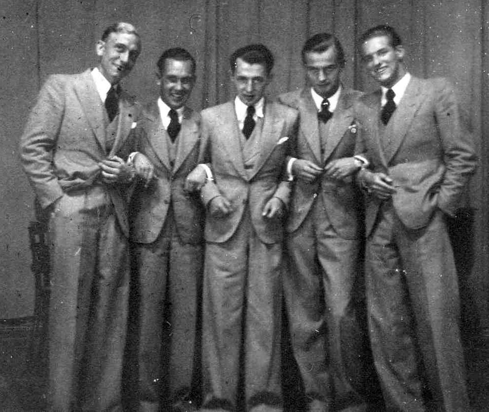 Mit neuem 1. Tenor – v.l.n.r.: Alfred Thomas, Bergau, Walter, Meitzner und Rössler