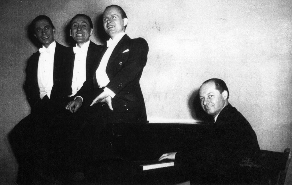 Die Gruppe Anfang der 1950er Jahre mit Peter Purand, Günter Leider, Wilfried Sommer und Willy Sommerfeld