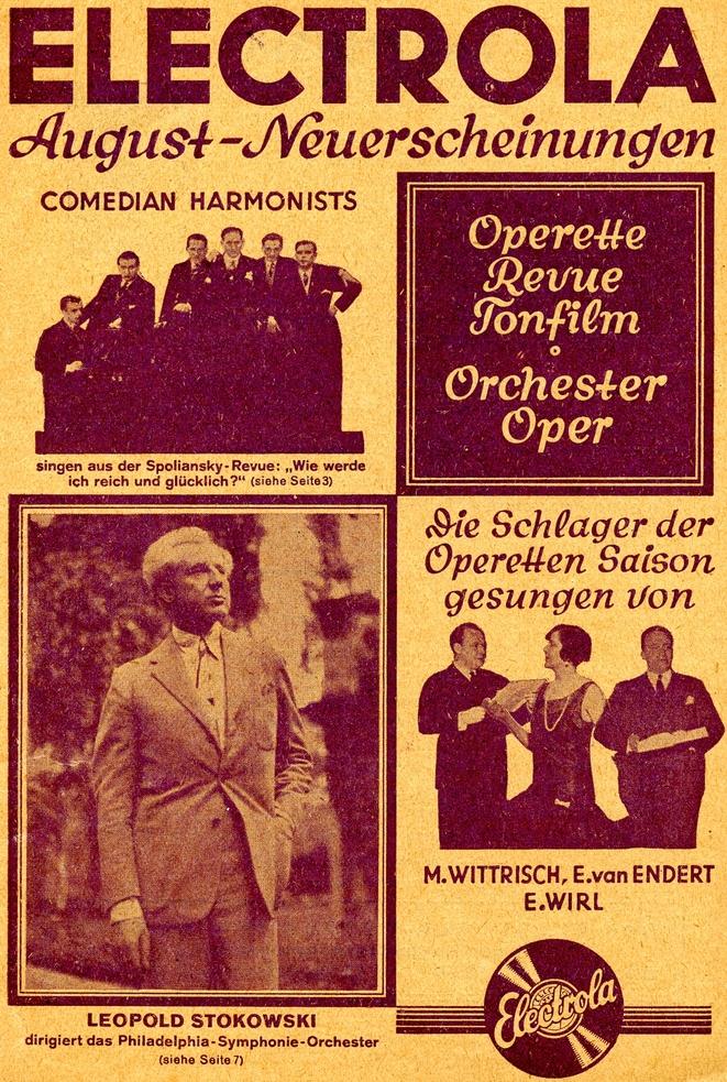 Plattenwerbung (Electrola, 1930)