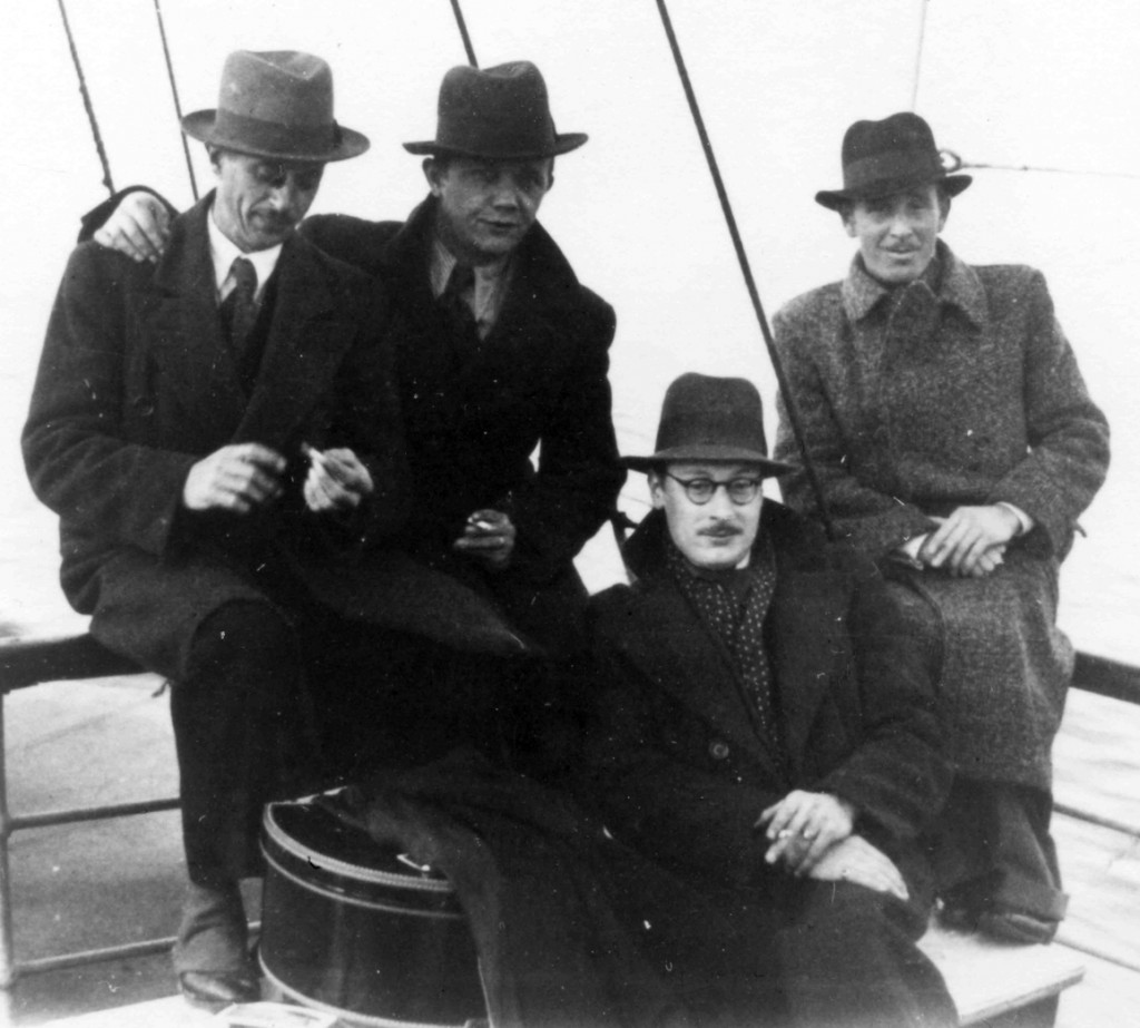 Die Vier Richters in Italien, v.l.n.r.: Kurt Richter (Tenor), Heinz Düwert (Bariton), Erwin Teichmann (Bass), Alexander Tibor (Tenor)